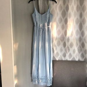 Baby Blue Maternity Dress